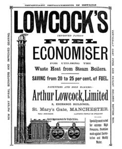 Arthur Lowcock, Fuel Economiser, Advertisement