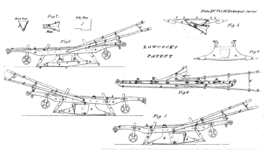 Lowcock Plough, Official Patent Submission, 1844 1844