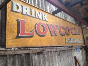 Lowcock's Lemonade Wooden Sign